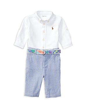 Ralph Lauren Childrenswear Boys Oxford Shirt  Seersucker Pants Set  Baby