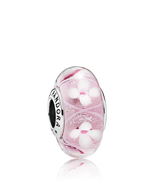 PANDORA - Sterling Silver & Murano Glass Field of Flowers Charm