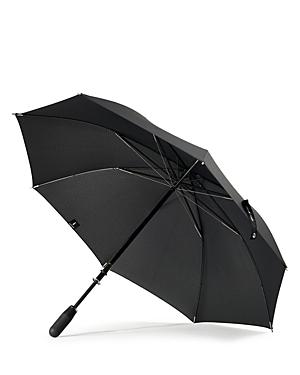 Shedrain Stratus Chrome Stick with Matte Black Handle Umbrella