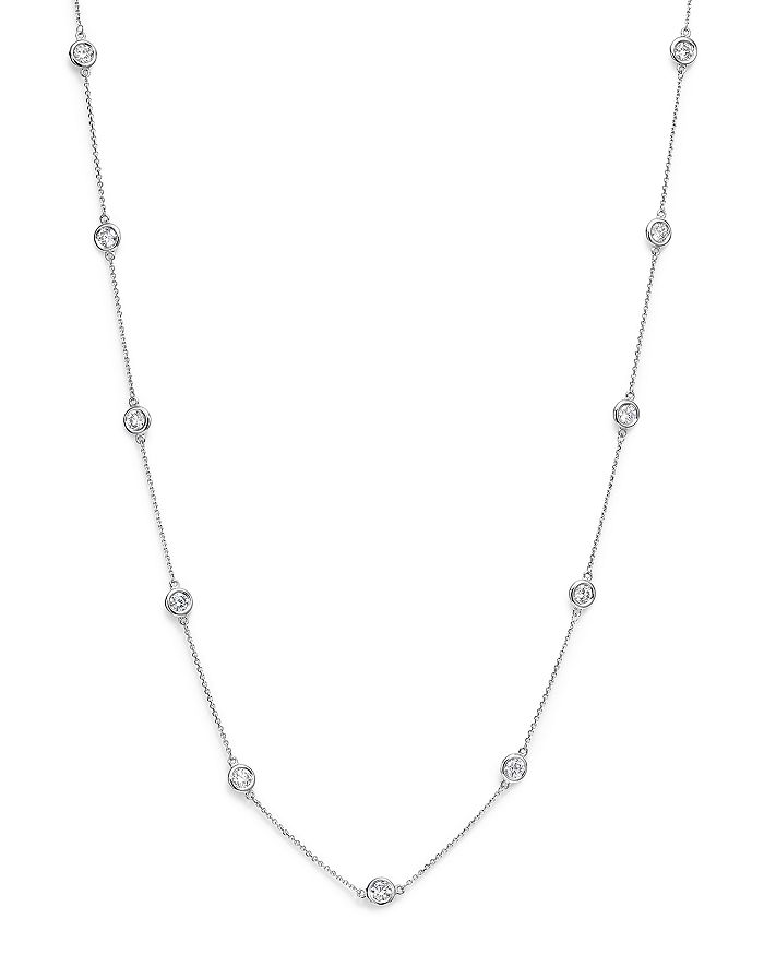 Bloomingdale's - Diamond Station Necklace in 14K White Gold, 2.60 ct. t.w. - 100% Exclusive