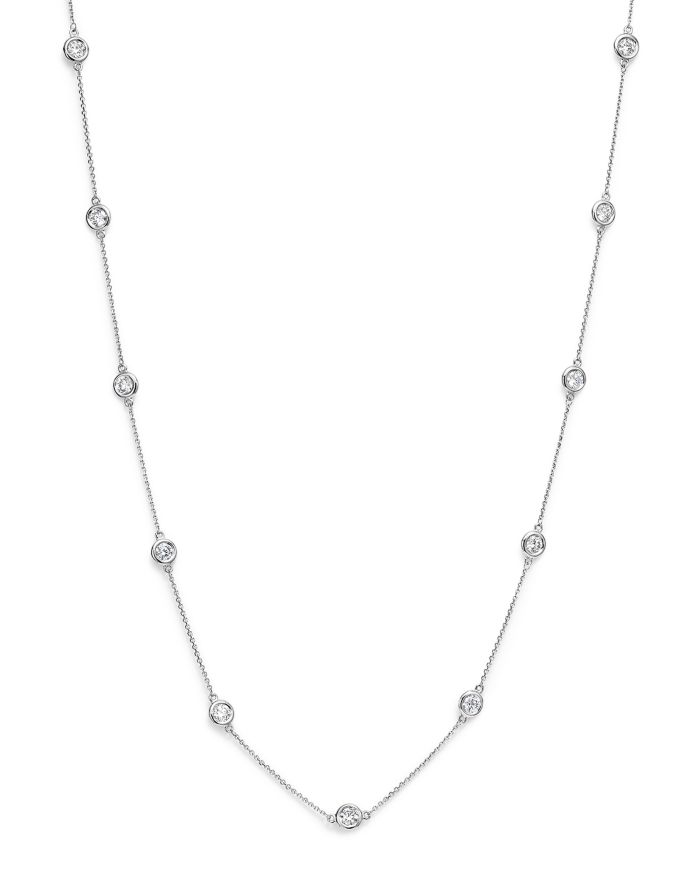 Bloomingdale's Diamond Station Necklace in 14K White Gold, 2.60 ct. t.w. - 100% Exclusive    Bloomingdale's