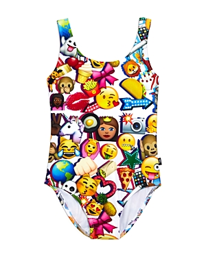 Terez Girls' Emoji Swimsuit - Little Kid, Big Kid