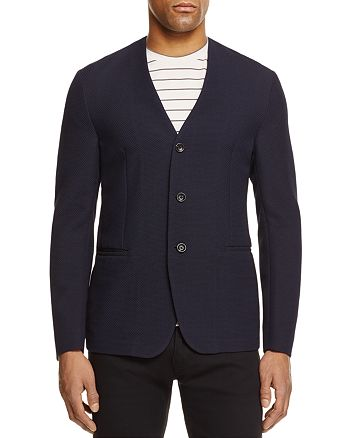 Armani - Textured Regular Fit Sport Coat