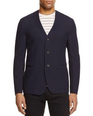 Armani Collezioni Textured Regular Fit Sport Coat