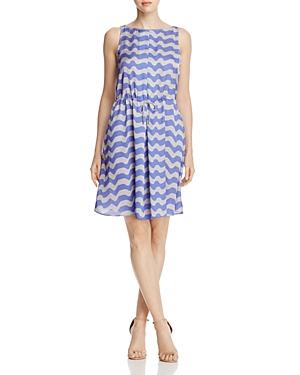 Armani Collezioni Wave-Print Dress