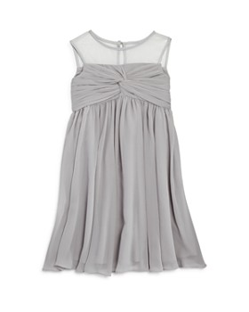 US Angels - Girls' Illusion Knot Front Dress - Big Kid