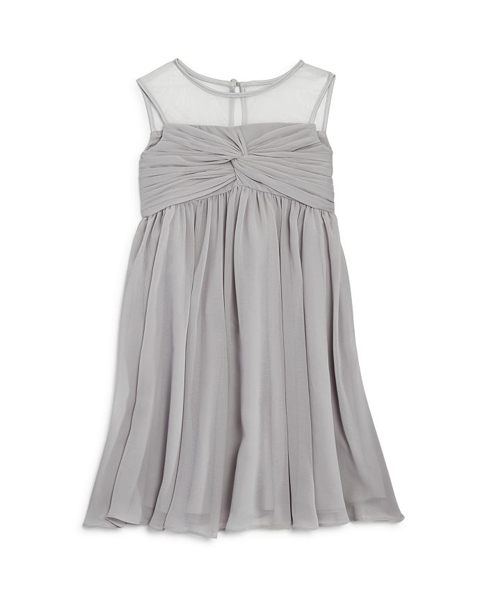 US Angels - Girls' Illusion Knot Front Dress - Little Kid