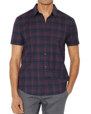 John Varvatos Star Usa Plaid Slim Fit Button-Down Shirt