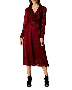 Karen Millen Ruffle Midi Dress