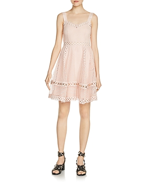 Maje Ravi Grommet-Detail Lace Dress