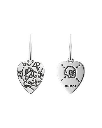 Gucci - Sterling Silver  Ghost Heart Earrings