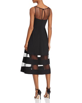 0701e808da ... Aidan by Aidan Mattox - Illusion Fit-and-Flare Dress