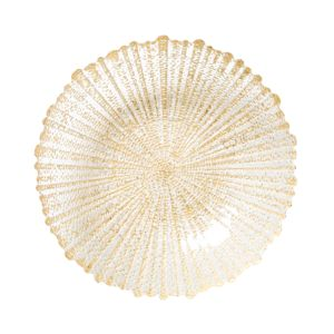 Vietri Rufolo Glass Gold Medium Serving Bowl 2579693