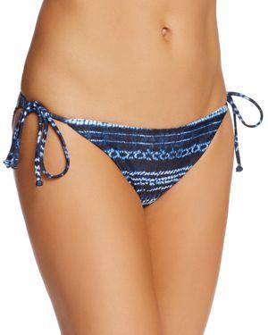 L*Space Lily Striped Side Tie Bikini Bottom