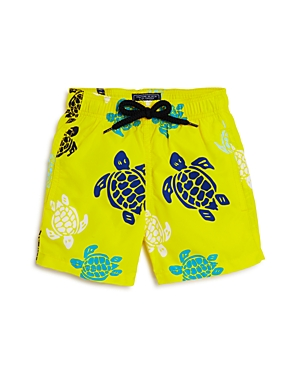 Vilebrequin Boys' Jam Multicolored Turtle Print Swim Trunks - Big Kid