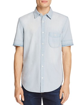7 For All Mankind - Chambray Regular Fit Button-Down Shirt