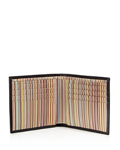Paul Smith - Multistripe-Lined Leather Bi-Fold Wallet