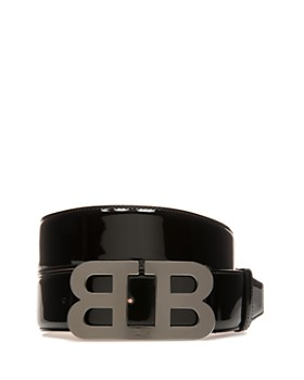 Bally - Mirror B Buckle Patent Leather Belt