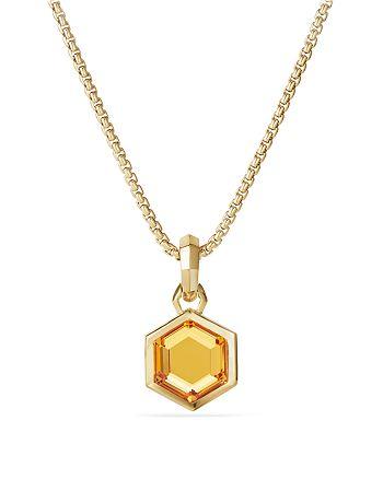 David Yurman - Hexagon Cut Amulet with Citrine in 18K Gold
