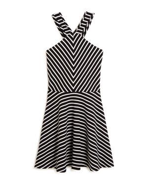 Aqua Girls' Striped Skater Dress, Big Kid - 100% Exclusive
