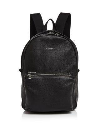 The Heights Mini Lorimer Nylon Backpack - Black, Black/Silver