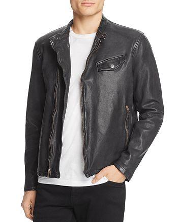 John Varvatos Collection - Garment Dyed Leather Jacket