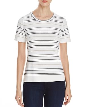 Calvin Klein Shimmer Stripe Short Sleeve Sweater