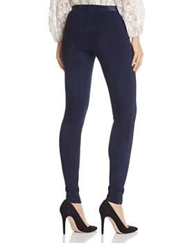 Alice and Olivia - Zip Front Suede Leggings