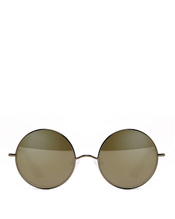 Elizabeth and James - Women's Mott Mirrored Round Sunglasses, 50mm
