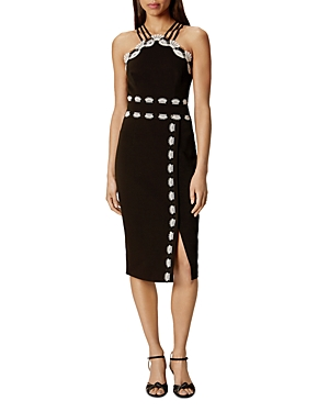 Karen Millen Lace-Trimmed Sheath Dress