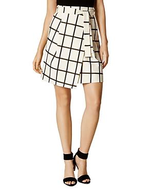 Karen Millen Windowpane Wrap Skirt