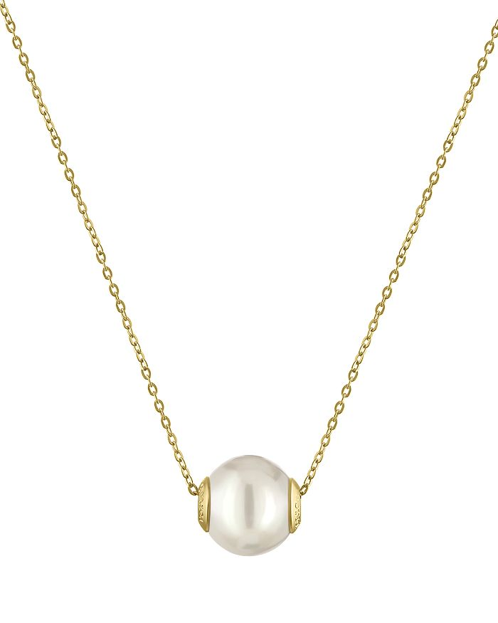Majorica - Simulated Pearl Pendant Necklace, 16""