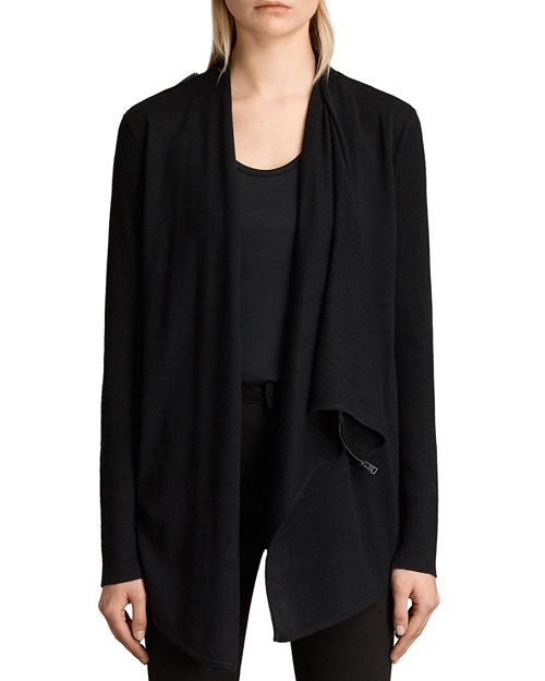 ALLSAINTS - Drina Ribbed Merino Wool Cardigan