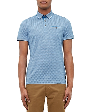 Ted Baker Oxford Jacquard Regular Fit Polo