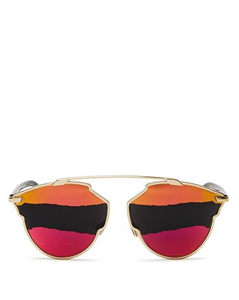 Dior - Women's So Real Mirrored Round Color-Block Sunglasses, 48mm