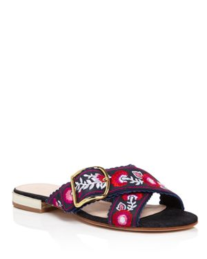 kate spade new york Faris Embroidered Slide Sandals