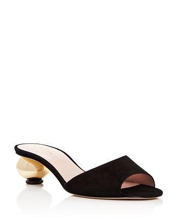 0252c1d0639b kate spade new york - Women s Paisley Low Heel Slide Sandals