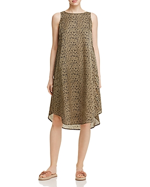 Eileen Fisher Geometric Print Trapeze Dress