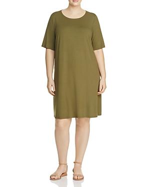Eileen Fisher Plus Short Sleeve Crewneck Dress