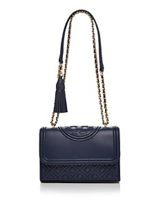 Tory Burch - Fleming Convertible Small Leather Shoulder Bag