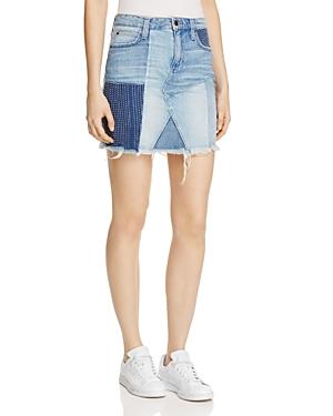Joe's Jeans Patchwork Denim Mini Skirt