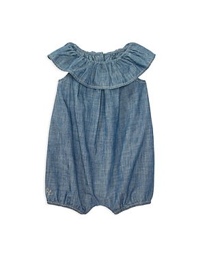 Ralph Lauren Childrenswear Girls' Chambray Ruffle Romper - Baby