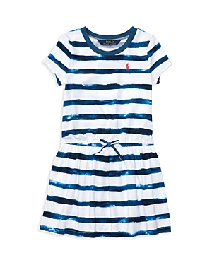 Ralph Lauren Childrenswear Girls' Tie Dye Stripe Shirt Dress - Little Kid