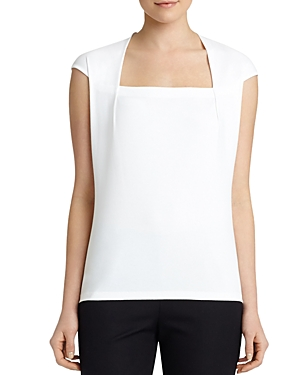 Lafayette 148 New York Giada Cap-Sleeve Top