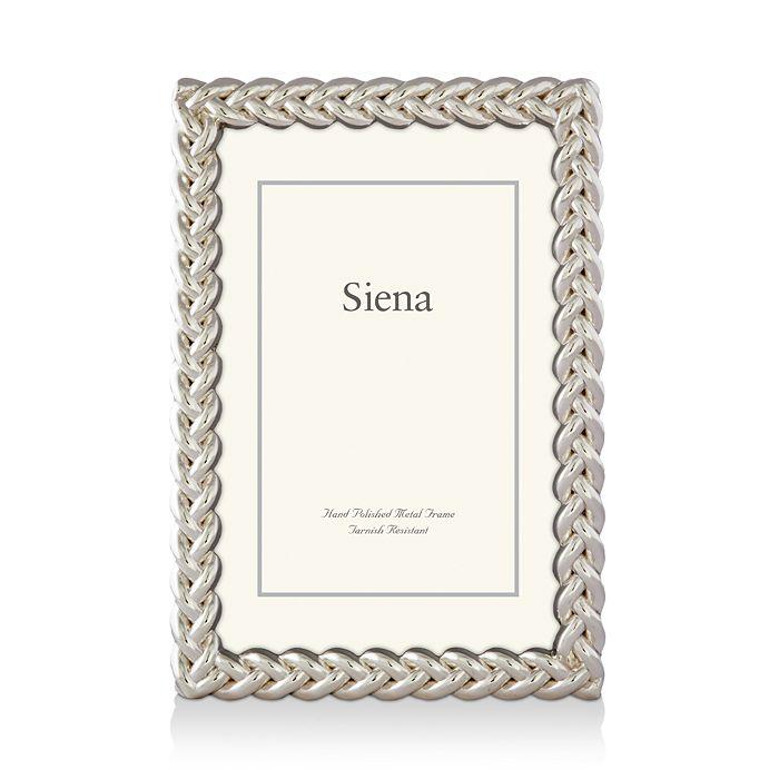 """Siena - Silver Braid Frame, 5"""" x 7"""""""