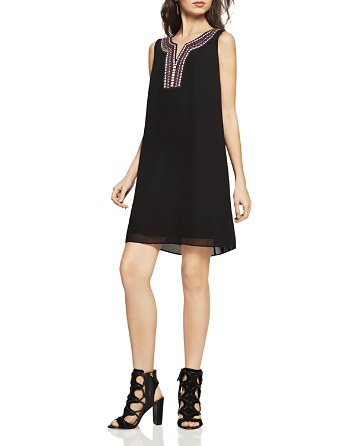 $BCBGeneration Embroidered Chiffon A-Line Dress - Bloomingdale's