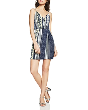 BCBGeneration Mixed Print Faux-Wrap Dress