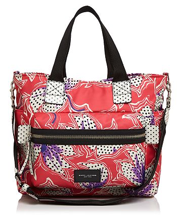 MARC JACOBS - Biker Spotted Lily Printed Diaper Bag