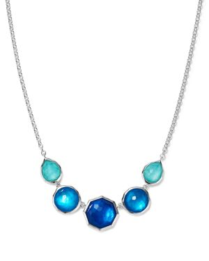 Ippolita Sterling Silver Rock Candy Wonderland Five Stone Mother-of-Pearl and Clear Quartz Doublet S