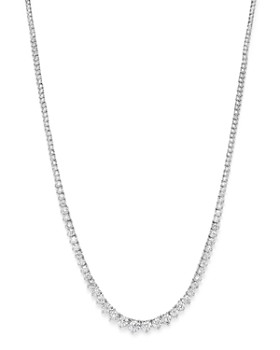 f822b4f185aa19 Bloomingdale's - Graduated Tennis Necklace in 14K White Gold, 5.0 ct. t.w.  Bloomingdale's ...